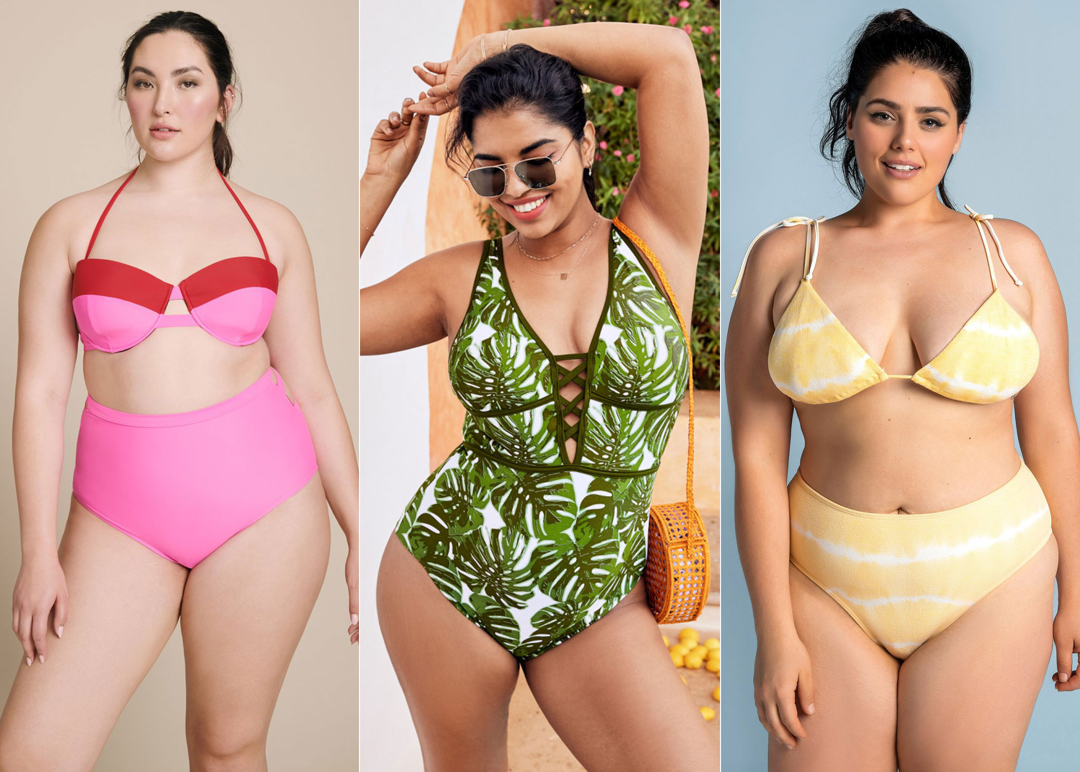 10 Best Printed Plus Size Swimsuits for Curves 2020 1